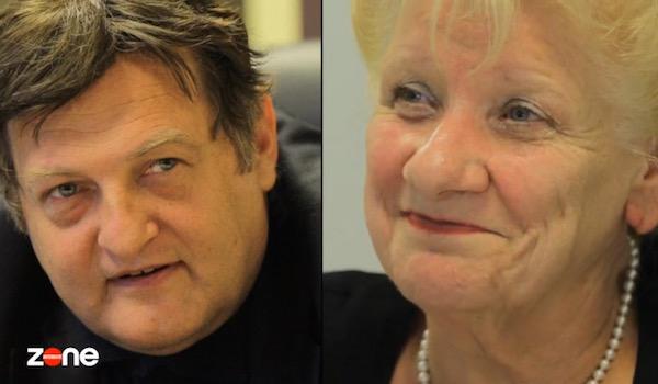 Иван Данов и Режан Биолет - директор на  борбата със злоупотребите във френската служба по заетостта, която отказва да разследва Данов заради политически протекции.
