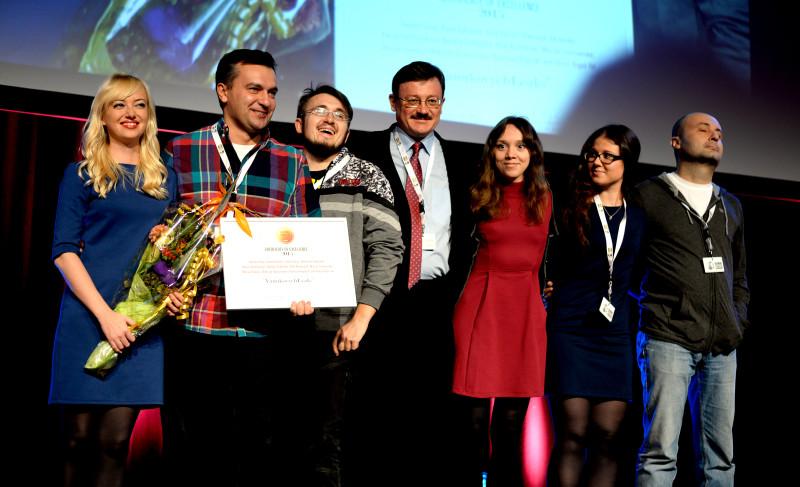 Екипът на YanukovichLeaks с наградата Excellence на GIJC 2015