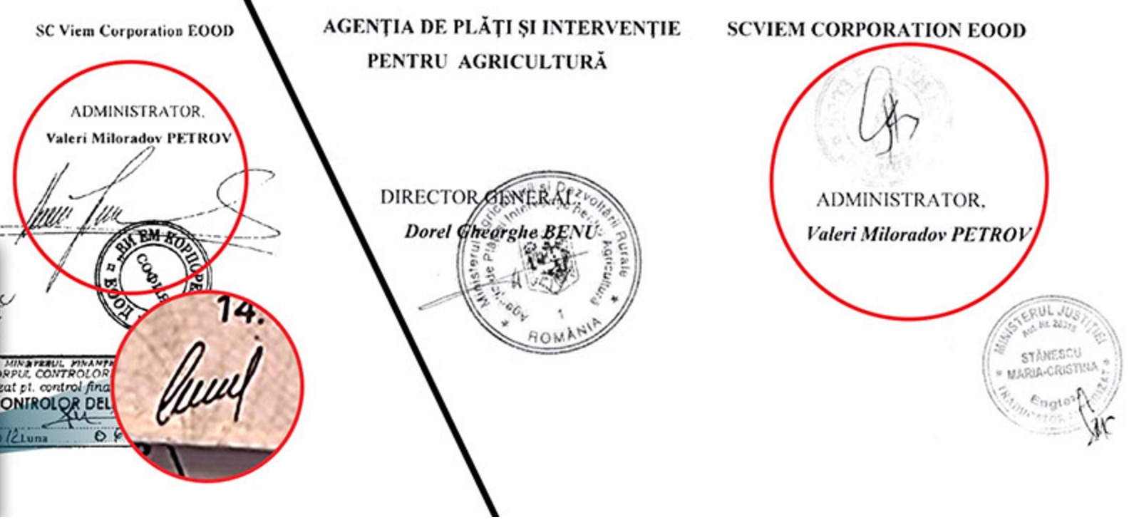 Подписите под договорите с APIA не са на собственика на фирмата