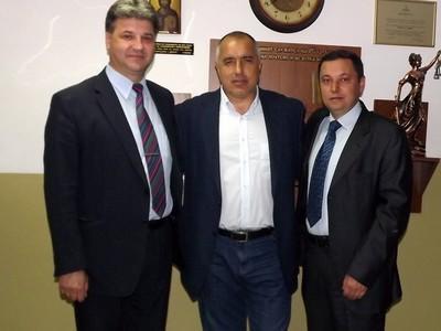 Димитър Узунов, Бойко Борисов и Яне Янев Снимка: blagoevgrad.info