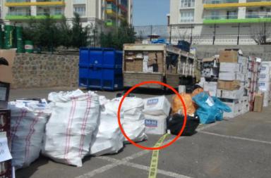 """Цигари """"ММ"""" заловени от турските митничари в Диарбекир."""
