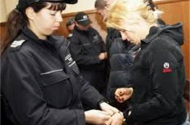 Мила Георгиева в съда.
