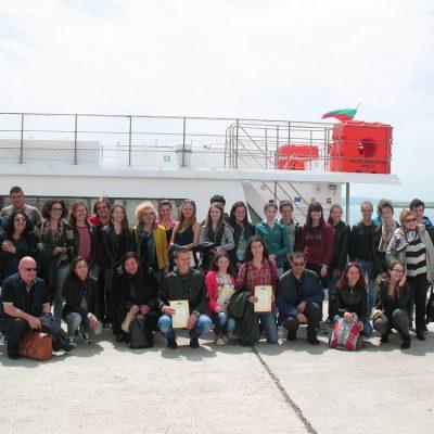Финалът на конкурса се превърна в приключение- наградените отплаваха за остров Света Анастасия
