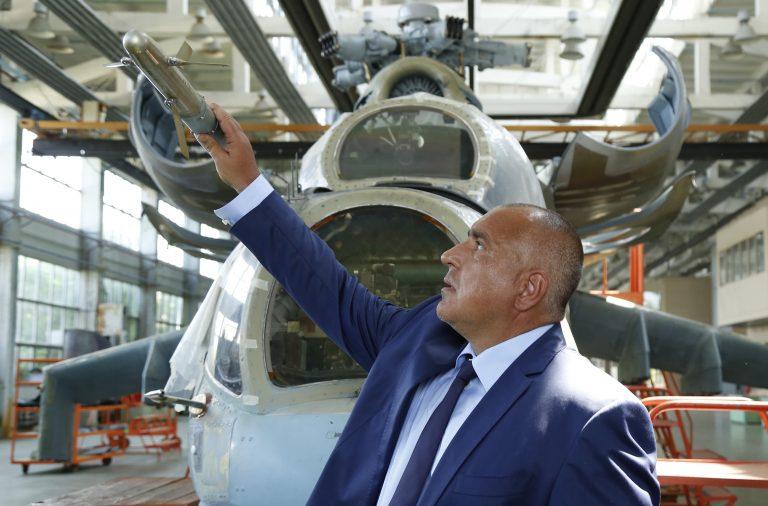 Бойко Борисов в Авионамс СНИМКА: Министерски съвет