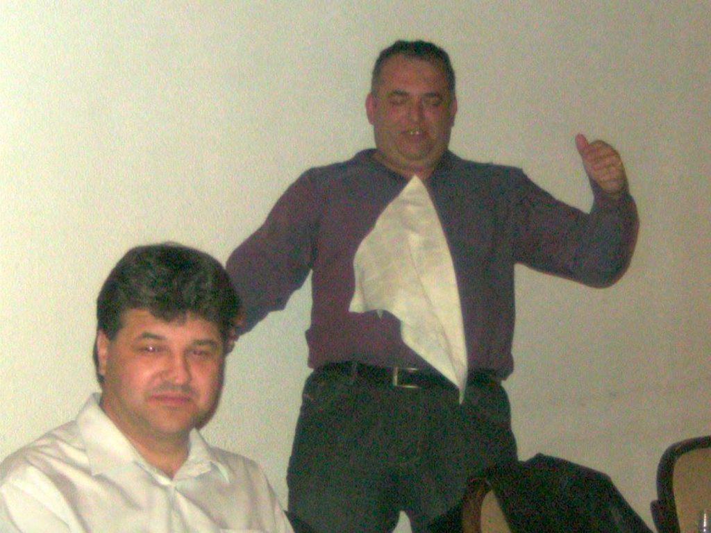Новоизбраният представляващ ВСС Димитър Узунов и шефът на РС Велинград Веселин Петричев